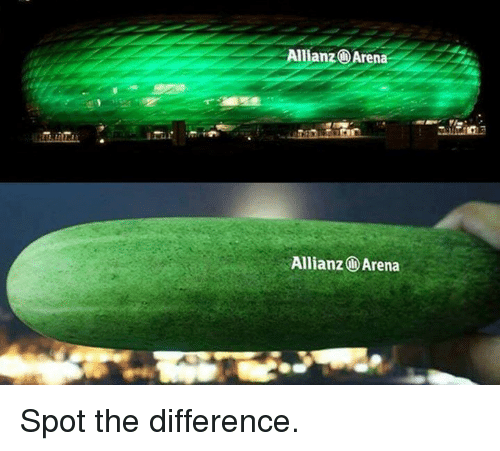 allianz arena: Allianz i Arena  Allianz Arena Spot the difference.