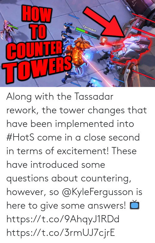 changes: Along with the Tassadar rework, the tower changes that have been implemented into #HotS come in a close second in terms of excitement!  These have introduced some questions about countering, however, so @KyleFergusson is here to give some answers!  📺https://t.co/9AhqyJ1RDd https://t.co/3rmUJ7cjrE