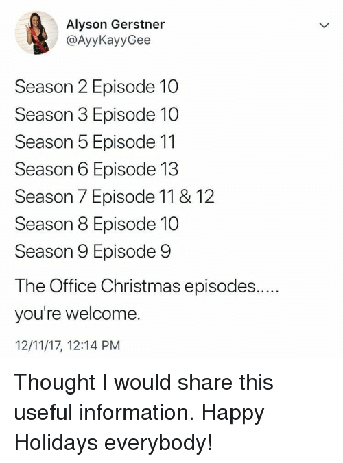 christmas the office and happy alyson gerstner ayykayygee season 2 episode 10 - The Office Christmas Episodes