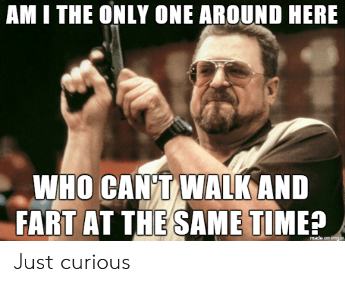 am i the only: AM I THE ONLY ONE AROUND HERE  WHO CAN T WALK AND  FART AT THE SAME TIME?  made on imgur Just curious
