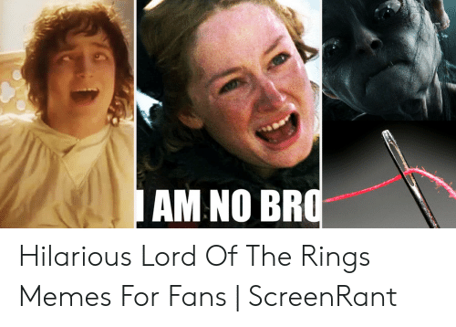 funny lotr: AM NO BF Hilarious Lord Of The Rings Memes For Fans | ScreenRant