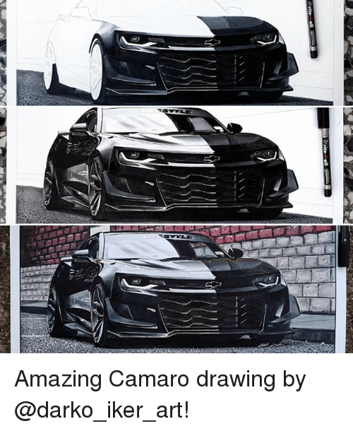 Memes, Camaro, and Amazing: Amazing Camaro drawing by @darko_iker_art!