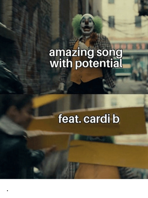 Amazing, Cardi B, and Song: amazing song  with potential  feat.cardi b .