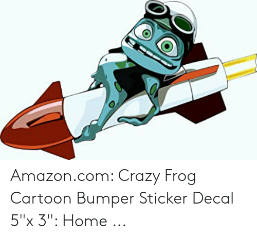 "Sticker Decal: Amazon.com: Crazy Frog Cartoon Bumper Sticker Decal 5""x 3"": Home ..."