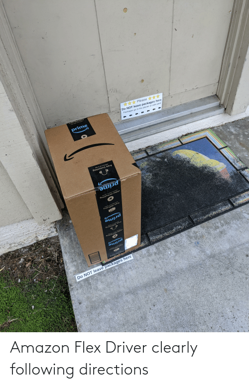 Flexing: Amazon Flex Driver clearly following directions