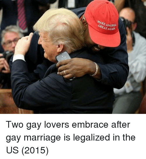 Gay Marriage: AMERICA  AGAIN Two gay lovers embrace after gay marriage is legalized in the US (2015)