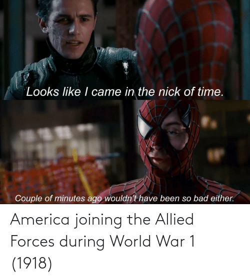 world war: America joining the Allied Forces during World War 1 (1918)
