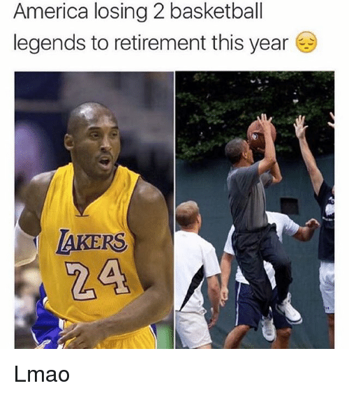 basketball legends: America losing 2 basketball  legends to retirement this year  AKERS Lmao