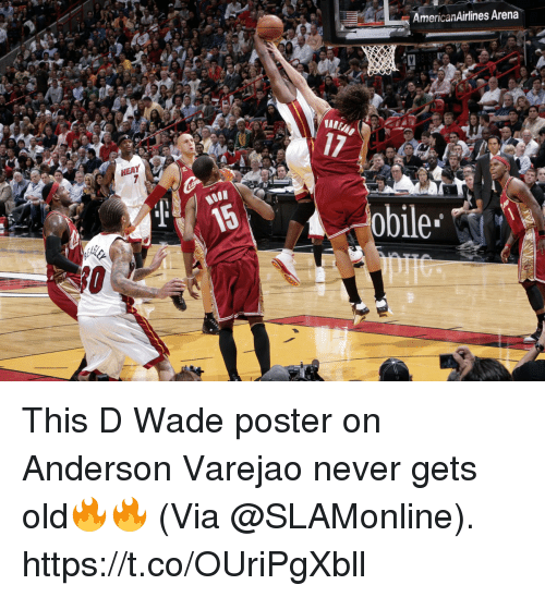 arena: AmericanAirlines Arena  17  MOON  obile This D Wade poster on Anderson Varejao never gets old🔥🔥  (Via @SLAMonline).  https://t.co/OUriPgXbll