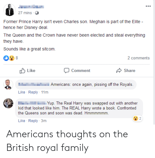 Royal family: Americans thoughts on the British royal family