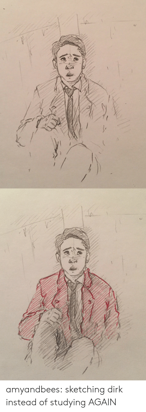 Target, Tumblr, and Blog: amyandbees:  sketching dirk instead of studying AGAIN