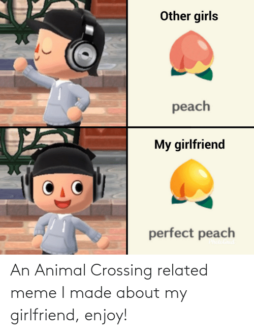 meme i: An Animal Crossing related meme I made about my girlfriend, enjoy!