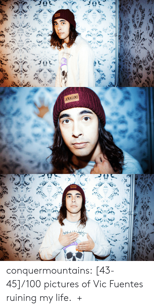 Pierce: ANALOG  ह   ANALOG   ANALOG conquermountains:  [43-45]/100 pictures of Vic Fuentes ruining my life.  +