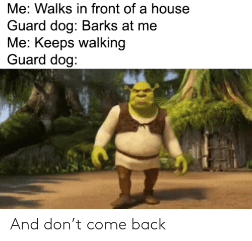 come back: And don't come back
