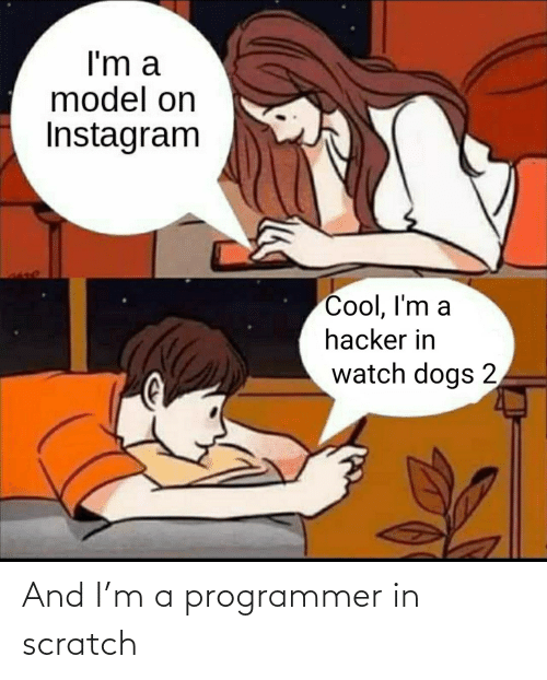 programmer: And I'm a programmer in scratch