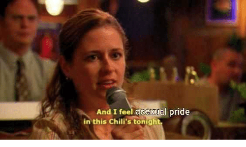 Chilis, Asexual, and Pride: And I feel asexual pride  in this Chili's tonight