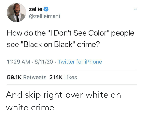Crime, White, and Right: And skip right over white on white crime