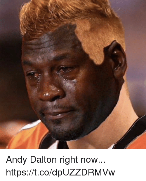 Andy Dalton: Andy Dalton right now... https://t.co/dpUZZDRMVw