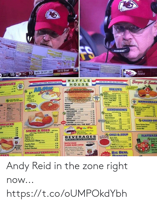 right now: Andy Reid in the zone right now... https://t.co/oUMPOkdYbh