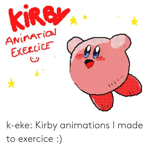 Tumblr, Blog, and Kirby: ANİnArial  EXERCICE . k-eke:  Kirby animations l made to exercice :)