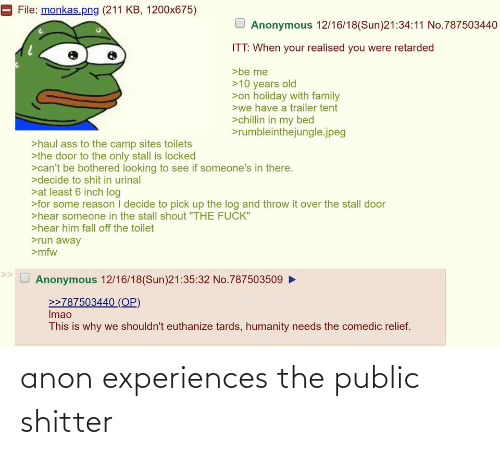Experiences: anon experiences the public shitter