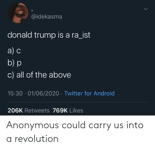 Into: Anonymous could carry us into a revolution