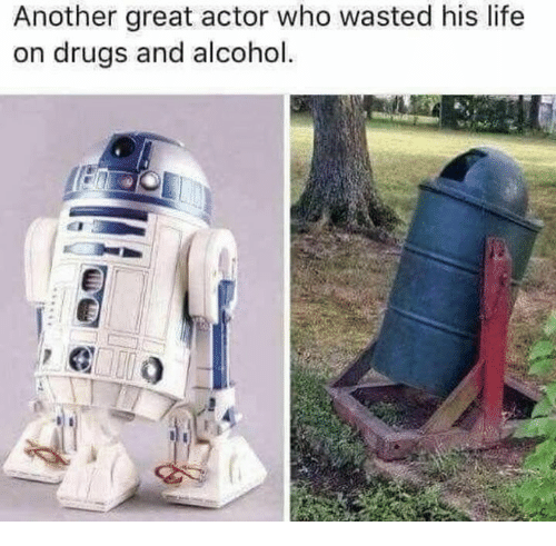Drugs, Life, and Alcohol: Another great actor who wasted his life  n drugs and alcohol.