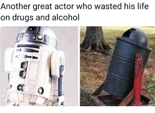 Drugs, Life, and Alcohol: Another great actor who wasted his life  on drugs and alcohol