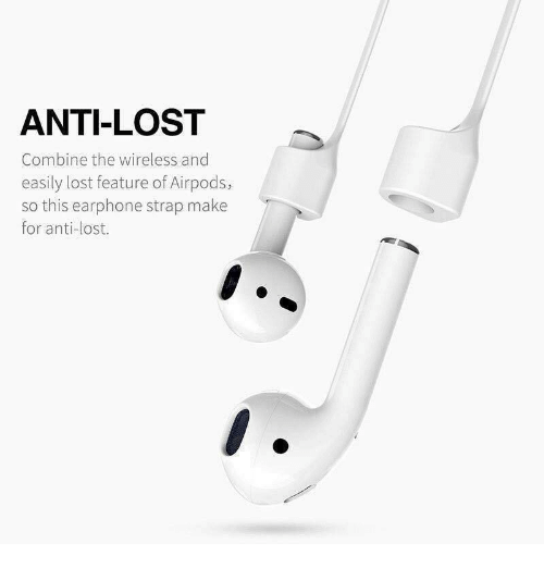 Lost, Anti, and Combine: ANTI-LOST  Combine the wireless and  easily lost feature of Airpods,  so this earphone strap make  for anti-lost.