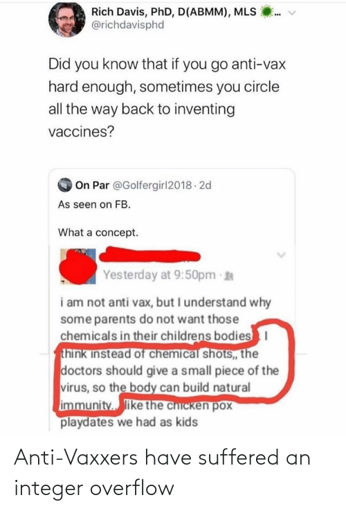 Anti: Anti-Vaxxers have suffered an integer overflow