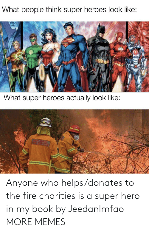 Fire: Anyone who helps/donates to the fire charities is a super hero in my book by Jeedanlmfao MORE MEMES