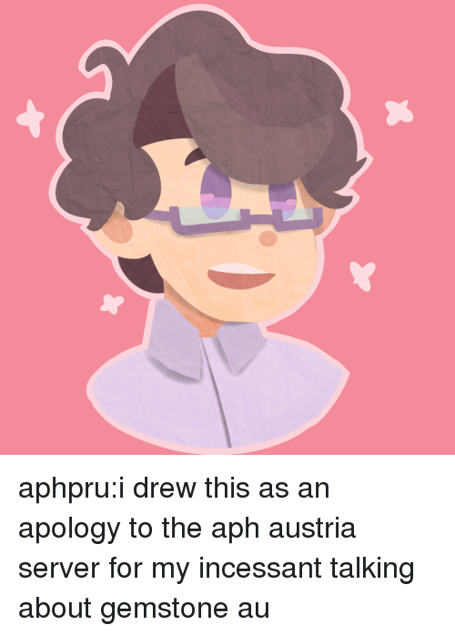 I Drew This: aphpru:i drew this as an apology to the aph austria server for my incessant talking about gemstone au