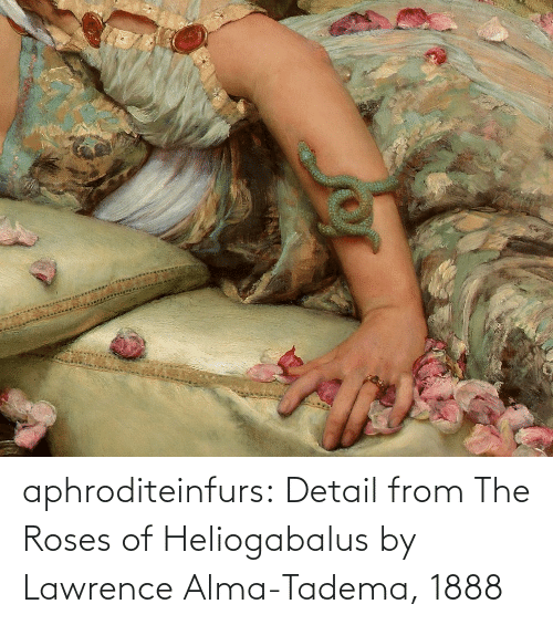 roses: aphroditeinfurs: Detail from The Roses of Heliogabalus by Lawrence Alma-Tadema, 1888