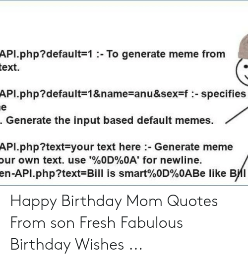 🅱️ 25 Best Memes About Happy Birthday Mom Quotes