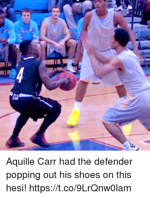 Memes, Shoes, and 🤖: Aquille Carr had the defender popping out his shoes on this hesi! https://t.co/9LrQnw0lam