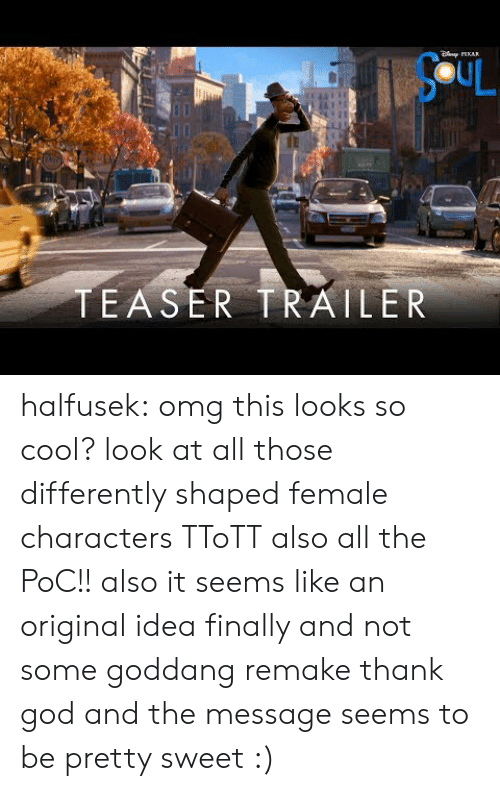 Remake: AR  SCUL  TEASER TRAILER halfusek: omg this looks so cool? look at all those differently shaped female characters TToTT also all the PoC!! also it seems like an original idea finally and not some goddang remake thank god and the message seems to be pretty sweet :)
