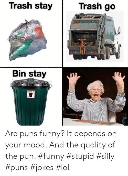 Your: Are puns funny? It depends on your mood. And the quality of the pun. #funny #stupid #silly #puns #jokes #lol