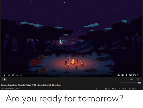 You Ready: Are you ready for tomorrow?