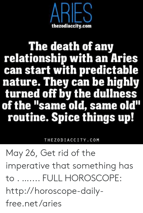 ARIES Thezodiaccitycom the Death of Any Relationship With an