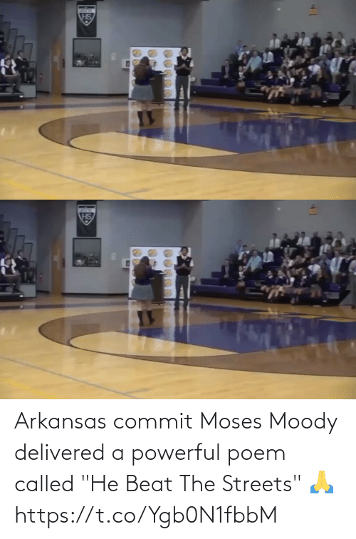 "beat: Arkansas commit Moses Moody delivered a powerful poem called ""He Beat The Streets"" 🙏  https://t.co/Ygb0N1fbbM"