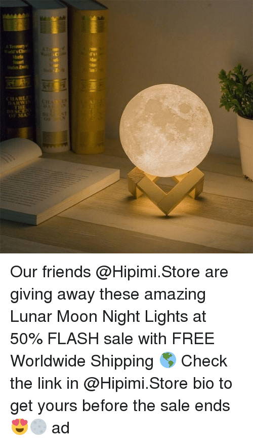 Mooned: ARL  ARW  OFSEA  0 Our friends @Hipimi.Store are giving away these amazing Lunar Moon Night Lights at 50% FLASH sale with FREE Worldwide Shipping 🌎 Check the link in @Hipimi.Store bio to get yours before the sale ends 😍🌕 ad