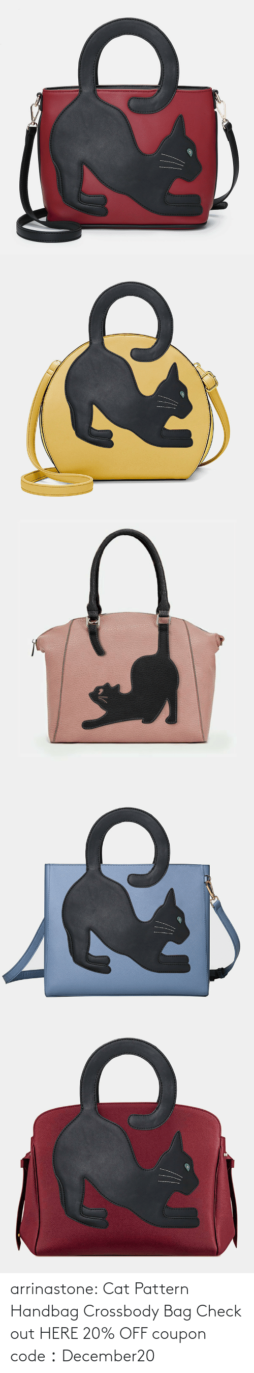 bag: arrinastone: Cat Pattern Handbag Crossbody Bag Check out HERE 20% OFF coupon code:December20