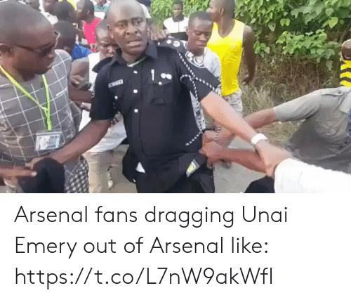 Arsenal Fans: Arsenal fans dragging Unai Emery out of Arsenal like: https://t.co/L7nW9akWfI