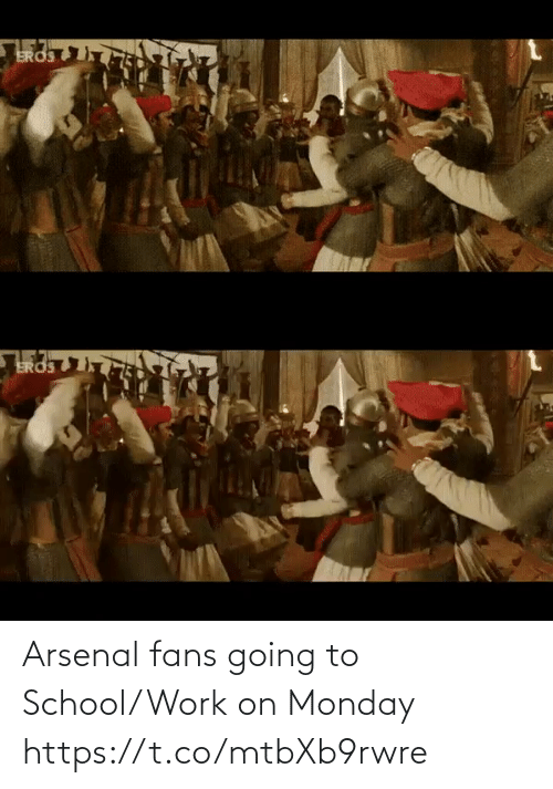 Arsenal Fans: Arsenal fans going to School/Work on Monday  https://t.co/mtbXb9rwre