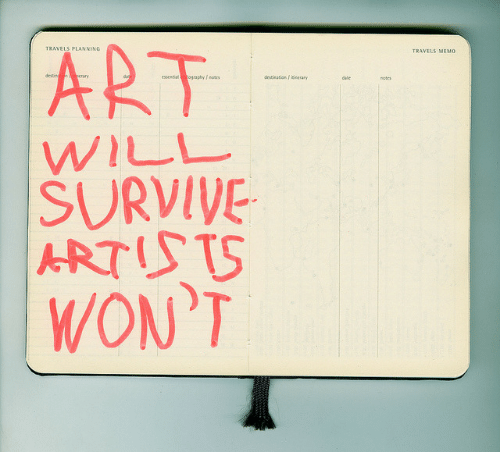 Art, Will, and Travels: ART.  TRAVELS MEMO  essential ogaphynoe  destination I nerary  WILL  SURVIVE  ARTUTS  WON'T