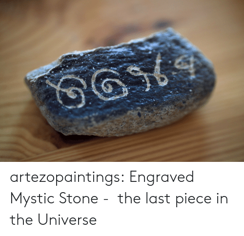 Tumblr, Blog, and Etsy: artezopaintings:  Engraved Mystic Stone -  the last piece in the Universe