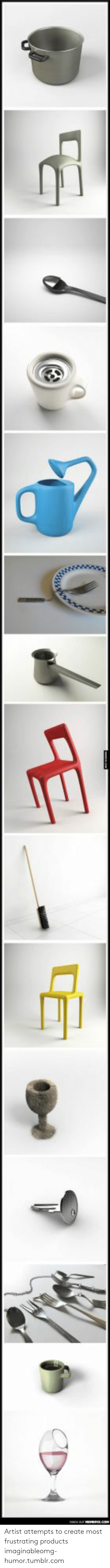 Imaginable: Artist attempts to create most frustrating products imaginableomg-humor.tumblr.com