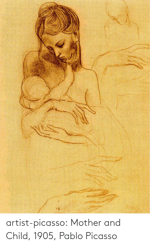 Tumblr, Blog, and Http: artist-picasso:  Mother and Child, 1905, Pablo Picasso