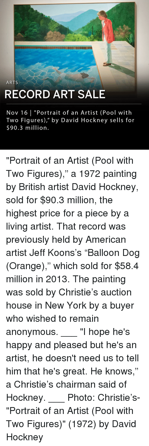 """Memes, New York, and American: ARTS  RECORD ART SALE  Nov 16 