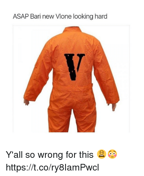 Looking, Asap, and New: ASAP Bari new Vlone looking hard Y'all so wrong for this 😩😳 https://t.co/ry8IamPwcl